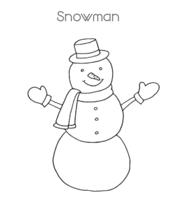 photo about Snowman Coloring Pages Printable referred to as Very simple Snowman Coloring Web pages Actively playing Studying