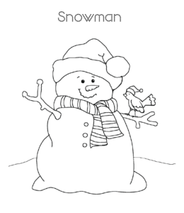 Easy Snowman Coloring Pages Playing Learning