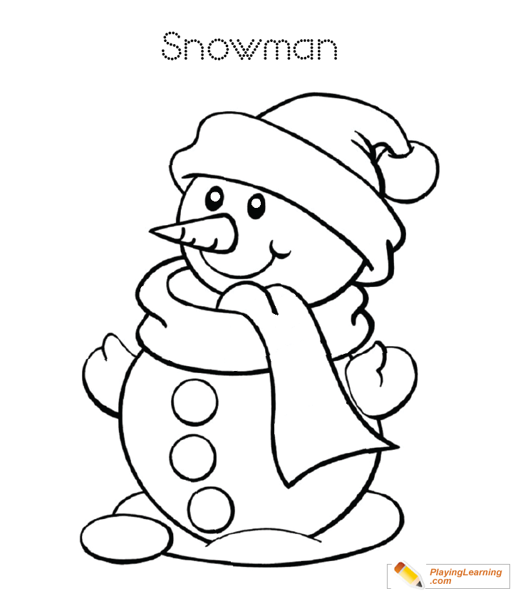 Easy Snowman Coloring Page 25 Free Easy Snowman Coloring Page