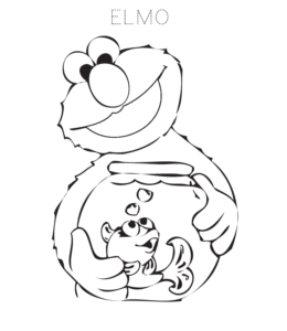 Elmo Coloring Page 1 For Kids