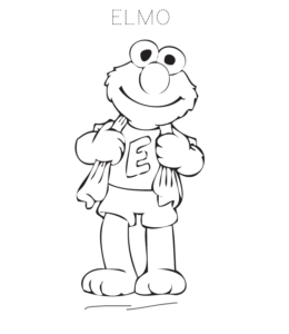 Elmo Coloring Pages Playing Learning Elmo Coloring Pages