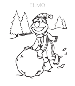 Elmo Coloring Page 9 For Kids