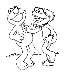 elmo and friends coloring pages | Sesame Street Elmo Coloring Pages | Playing Learning