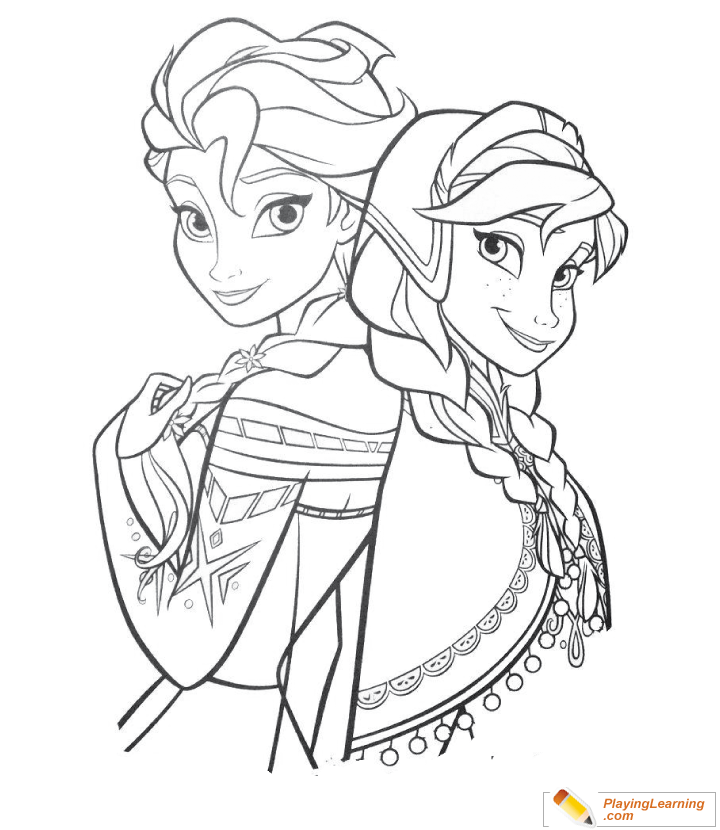 - Elsa And Anna Coloring Page 01 Free Elsa And Anna Coloring Page