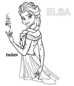 Frozen free to color for kids - Frozen Kids Coloring Pages | 300x260