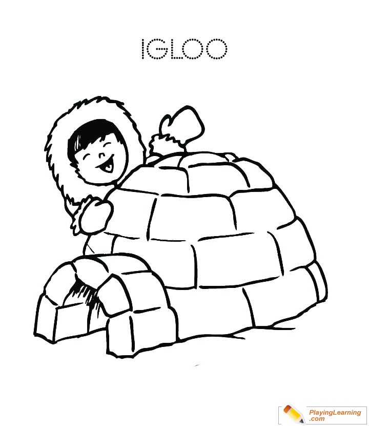 printable igloo coloring pages - photo#22