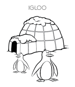 printable igloo coloring pages - photo#24