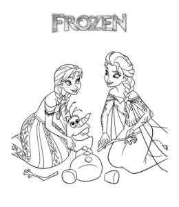 Frozen Movie Anna Elsa Coloring Page 1 For Kids