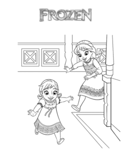Frozen Movie Anna Elsa Coloring Page 2 For Kids