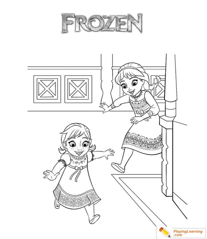create coloring pages names anna   Frozen Movie Anna Elsa Coloring Page 02   Free Frozen ...