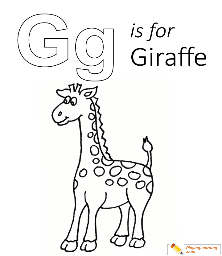 G Is For Giraffe Coloring Page | Free G Is For Giraffe ...