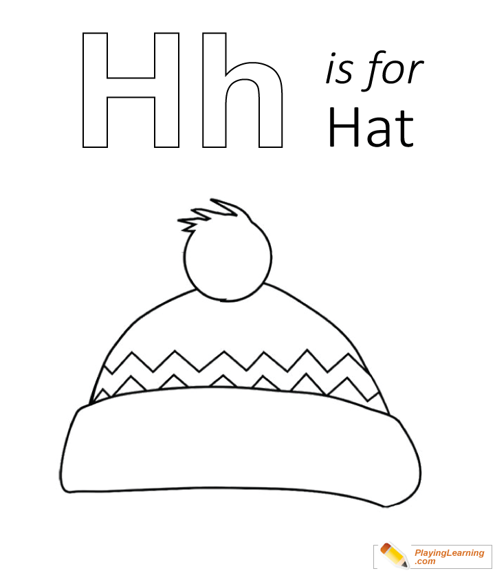 H Is For Hat Coloring Page Free H Is For Hat Coloring Page