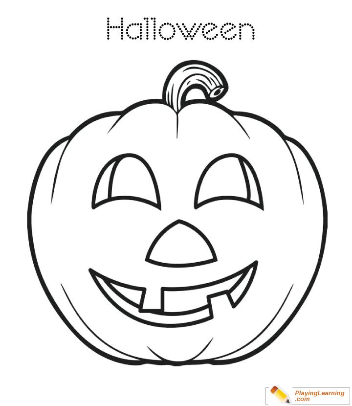 Halloween Pumpkin Coloring Page 19   Free Halloween Pumpkin Coloring ...