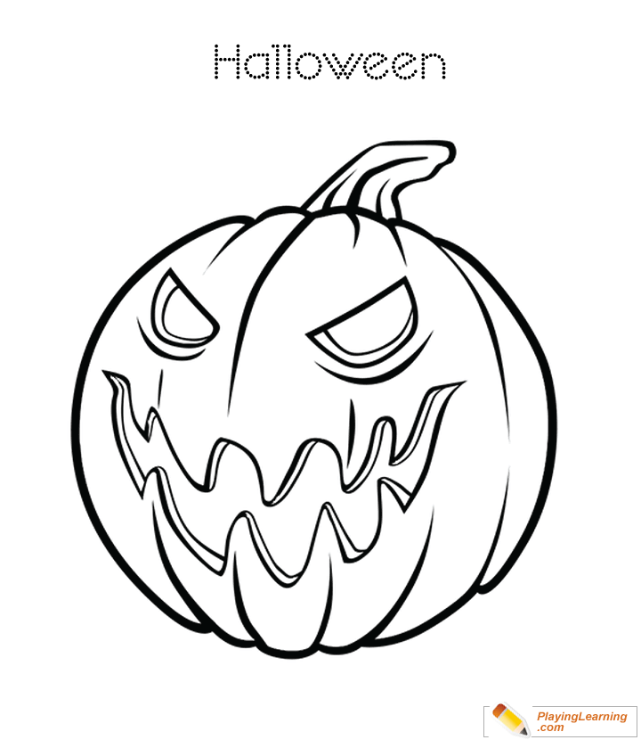 Halloween Pumpkin Coloring Page 21 Free Halloween Pumpkin Coloring Page