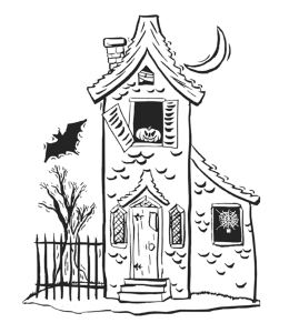 Free Haunted House Coloring Pictures, Download Free Clip Art, Free ... | 300x260