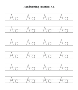 A-Z Uppercase Lowercase Letter Tracing Worksheets | Playing Learning