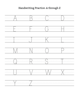 graphic about Free Printable Uppercase and Lowercase Letters Worksheets named A-Z Uppercase Lowercase Letter Tracing Worksheets Enjoying
