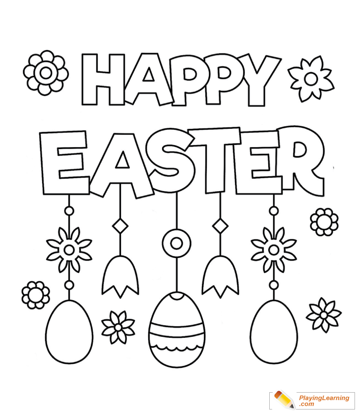 - Happy Easter Coloring Page 01 Free Happy Easter Coloring Page