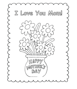 Mother S Day Coloring Pages Playing Learning