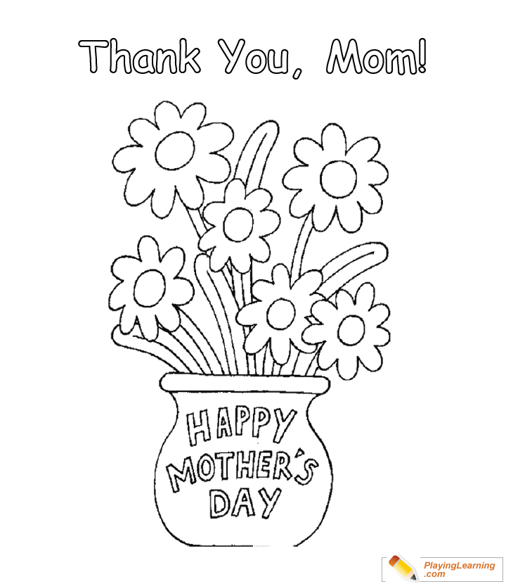 Happy Mothers Day Coloring Page 18 Free Happy Mothers Day