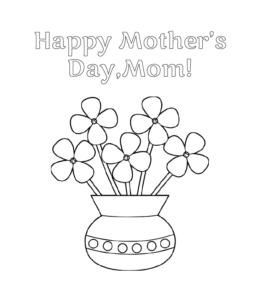 57 Best Mother's Day Coloring Pages - Free Printables | 300x260