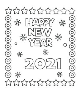 Happy New Year Coloring Pages Playing Learning