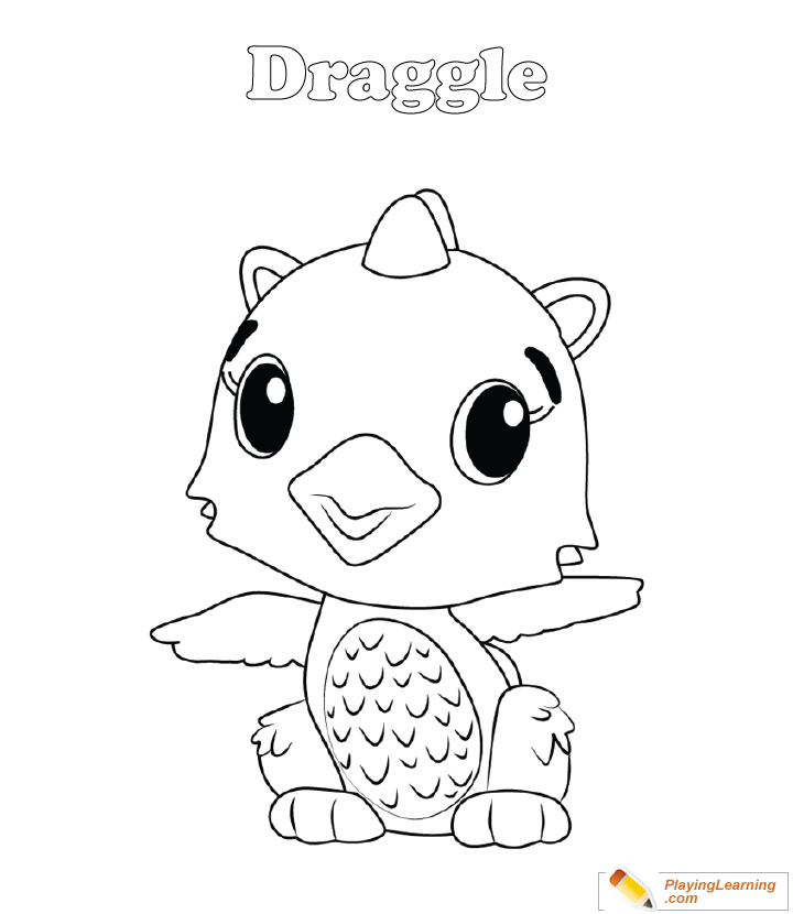 - Hatchimals Coloring Page 02 Draggle Free Hatchimals Coloring Page Draggle