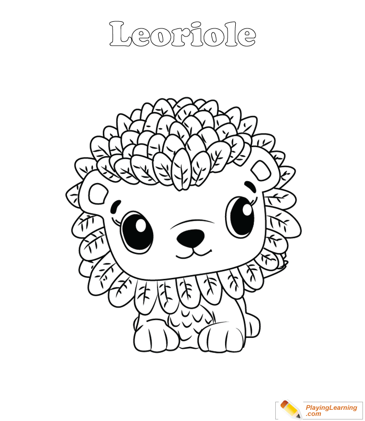 Hatchimals Coloring Page 08 Leoriole Free Hatchimals Coloring Page  Leoriole