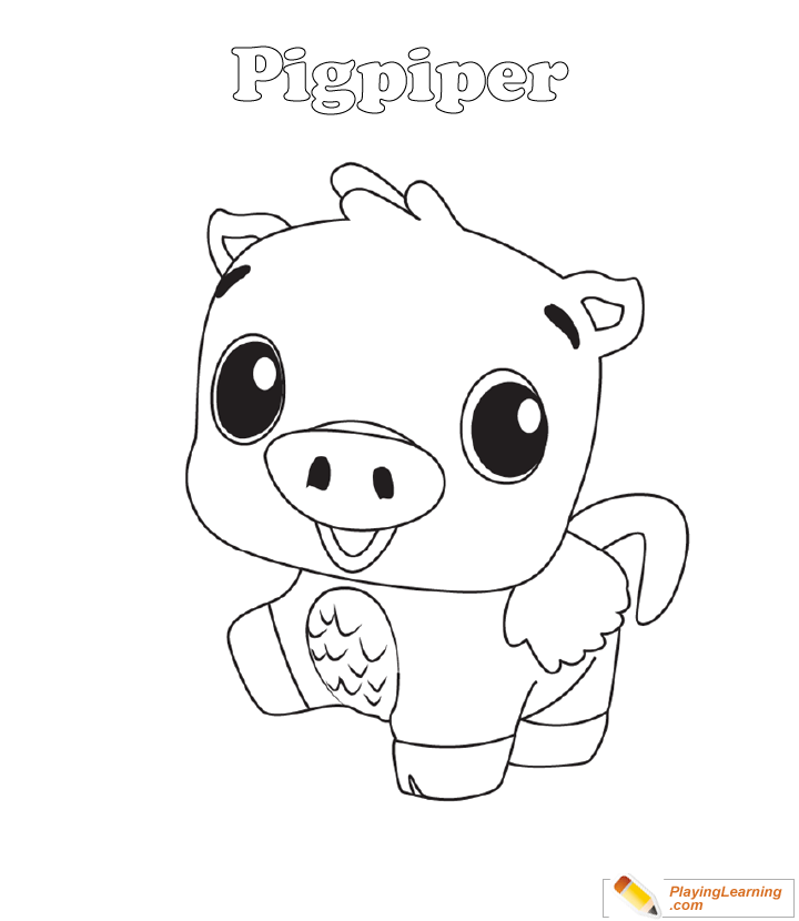 - Hatchimals Coloring Page 13 Pigpiper Free Hatchimals Coloring Page  Pigpiper