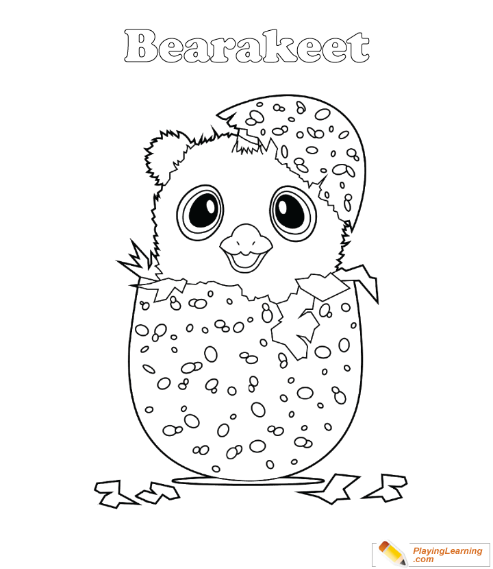 Hatchimals Coloring Page 15 Bearakeet Free Hatchimals Coloring Page  Bearakeet