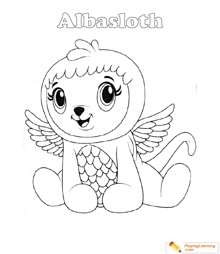 - Hatchimals Coloring Page 17 Albasloth Free Hatchimals Coloring Page  Albasloth