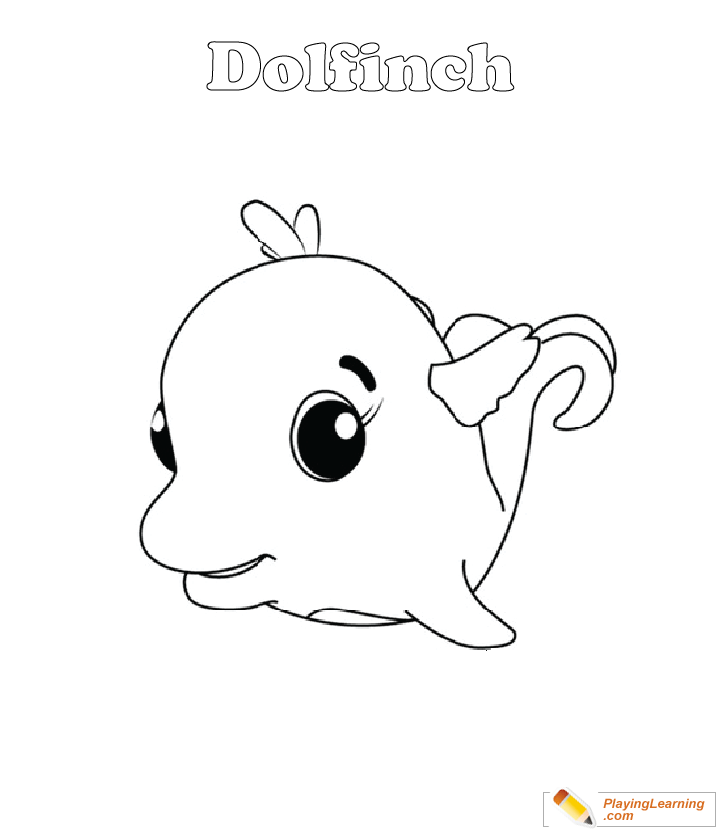- Hatchimals Coloring Page 21 Dolfinch Free Hatchimals Coloring Page  Dolfinch