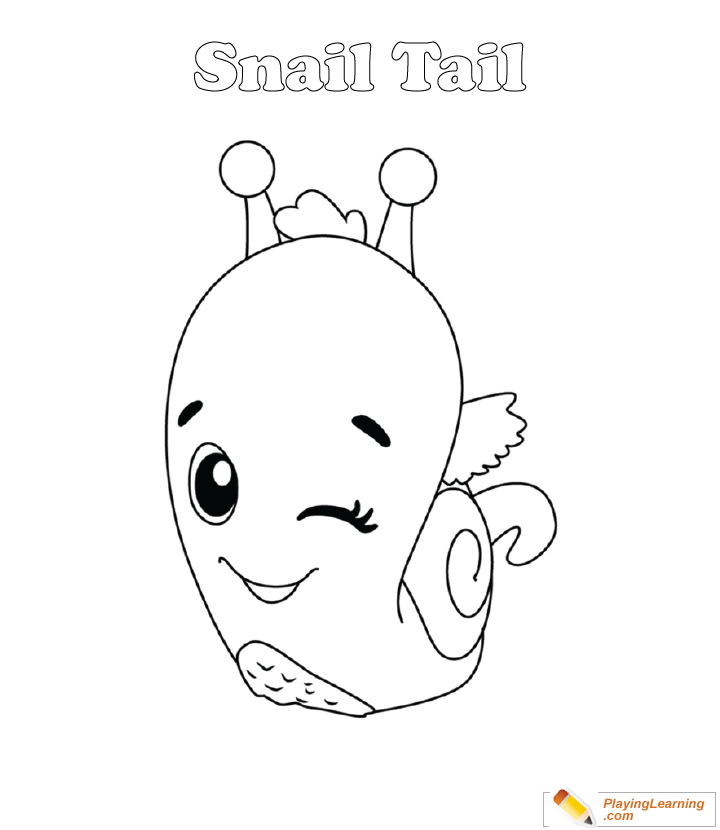 - Hatchimals Coloring Page 22 Snail Tail Free Hatchimals Coloring Page  Snail Tail