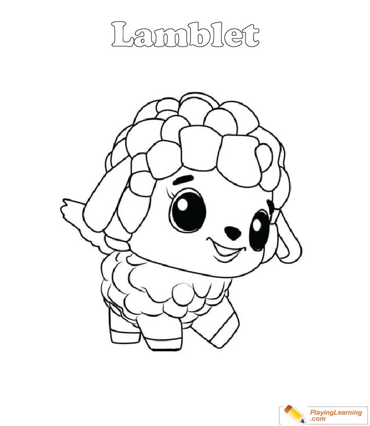 Hatchimals Coloring Page 24 Lamblet Free Hatchimals Coloring Page Lamblet