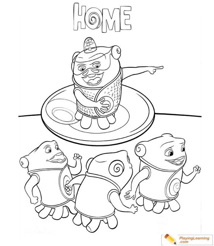 home movie boov coloring page for kids