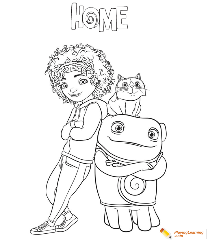 Home Movie Characters Coloring Page 02 | Free Home Movie ...