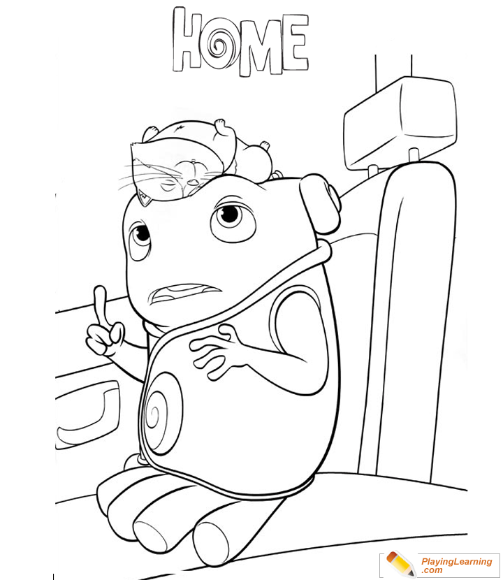 Home Movie Characters Coloring Pages
