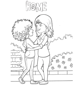 Home Movie Characters Coloring Pages Playing Learning