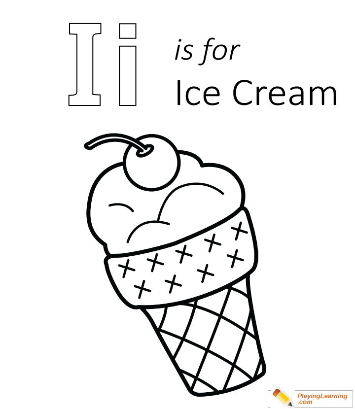 Ice Cream Coloring Pages Pdf