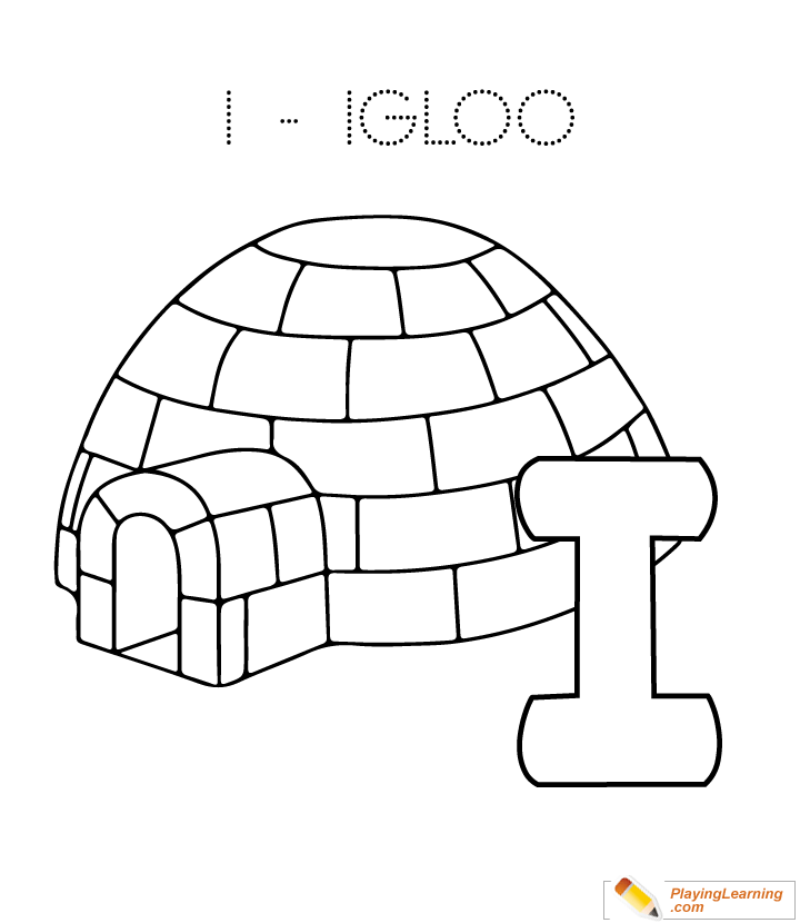 I Is For Igloo Coloring Page Free I Is For Igloo Coloring Page