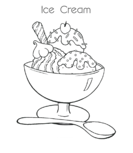 Ice Cream Coloring Page 2 For Kids