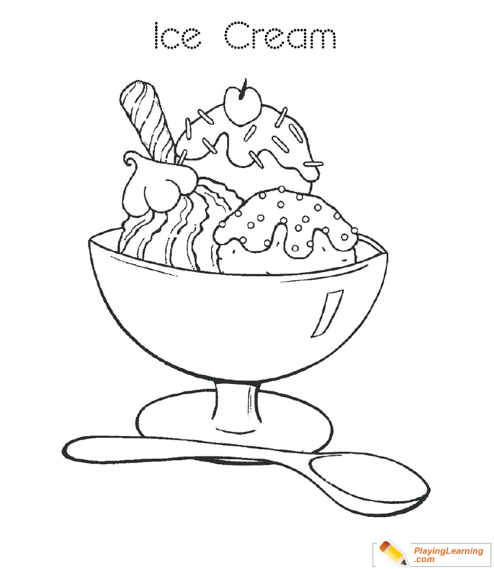 ice cream store coloring pages-#27