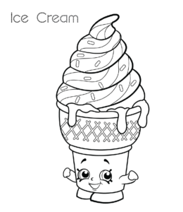 Ice Cream Coloring Pages Playing Learning