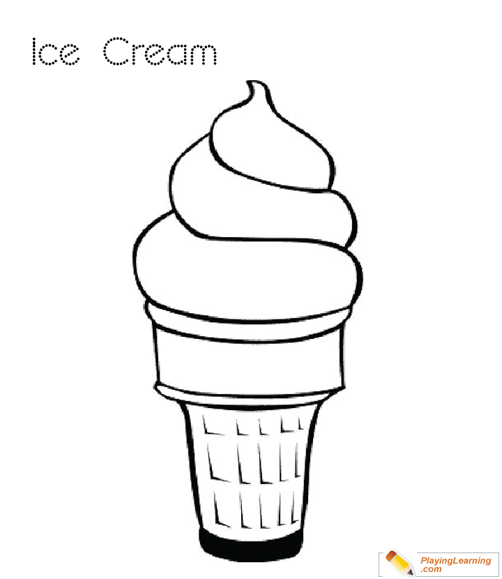 Ice Cream Coloring Page 05 | Free Ice Cream Coloring Page
