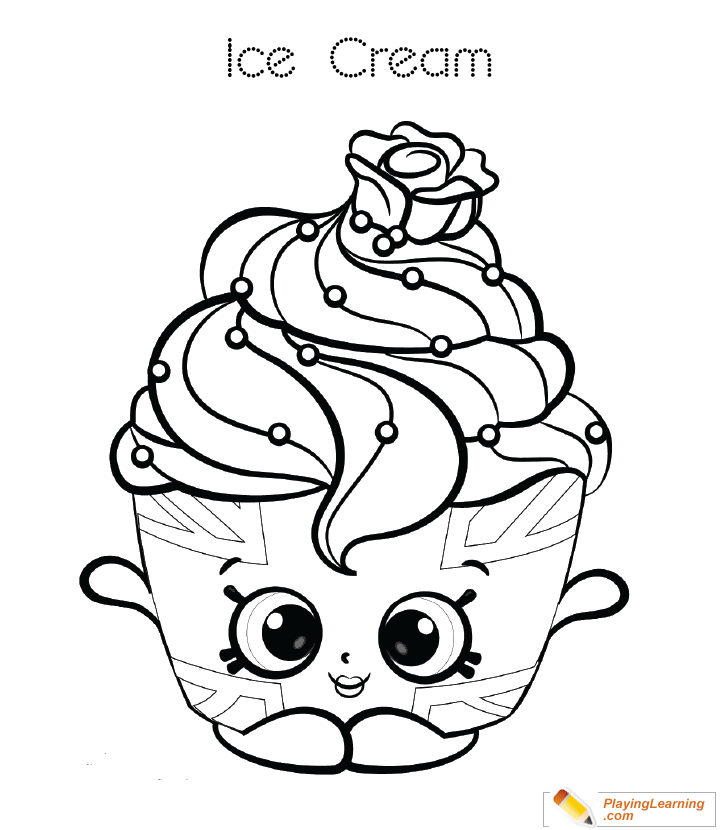 Ice Cream Coloring Page 21 | Free Ice Cream Coloring Page