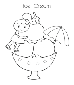 Ice Cream Coloring Page 24 For Kids