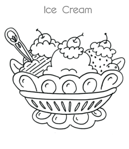 Ice Cream Coloring Pages | Playing Learning