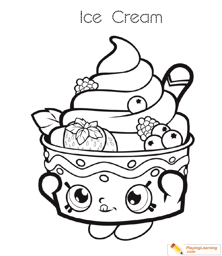 Ice Cream Coloring Page 28 | Free Ice Cream Coloring Page