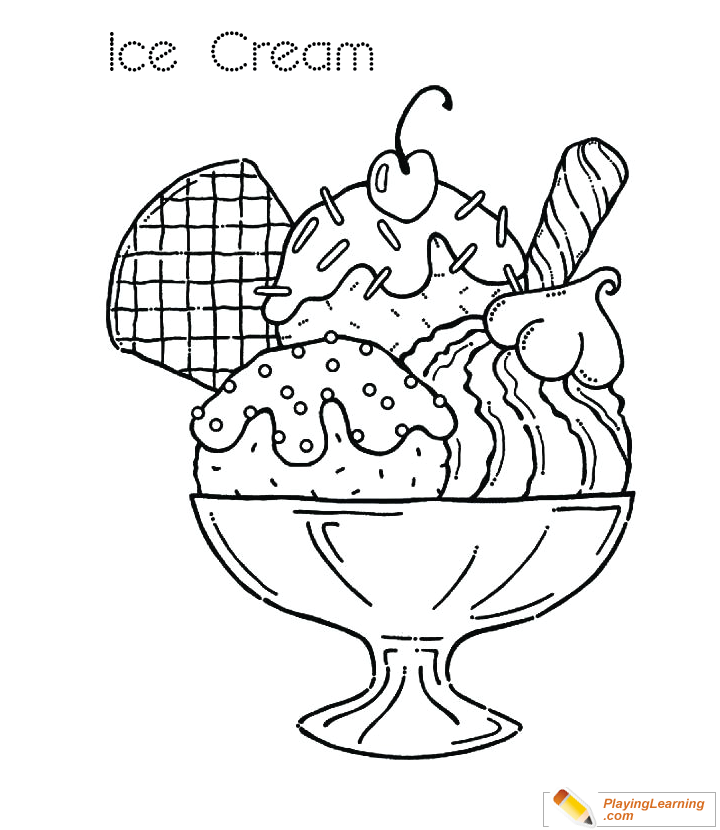 Ice Cream Coloring Page 29 | Free Ice Cream Coloring Page