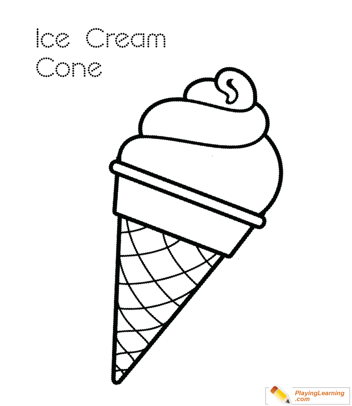 - Ice Cream Cone Coloring Page 05 Free Ice Cream Cone Coloring Page